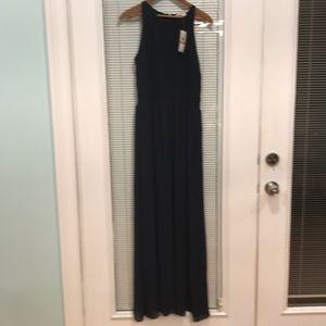 NWT Michael Kors navy blue maxi dress